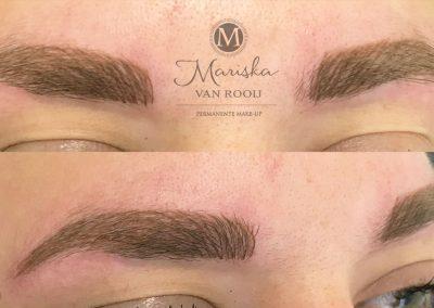 Hairstroke meten na behandeling Mariska van Rooij permanente make-up